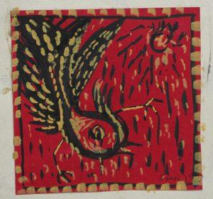 Umierający ptak, 1950